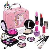 Washable Makeup Girls Unicorn Toys - Real Make Up Set Washable Make up Kit for Toddler Kids Girl Children Princess...