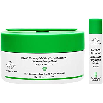 Drunk Elephant Slaai Makeup-Melting Butter Cleanser and Bamboo Booster. Innovative Makeup Removing Cleansing Balm that Melts Away Dirt, Makeup & Sunscreen. 3.88 Ounce.