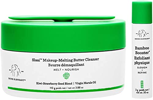 Drunk Elephant Slaai Makeup-Melting Butter Cleanser and Bamboo Booster. Innovative Makeup Removing Cleansing Balm tha...