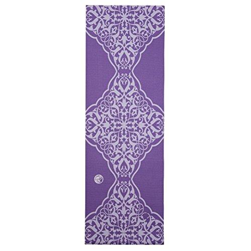 silly.con Fit & Fun 14004 - Yogamatte mit Tragegurt, lila, mit Ornamentaufdruck, aus PVC, ca. 183 x 61 x 0,4 cm