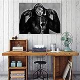 Imprimir en Lienzo Imagen de Pared de orangután Animal Creativo decoración del hogar para Carteles de Sala de Estar de Dormitorio,70x105cm,Pintura sin Marco