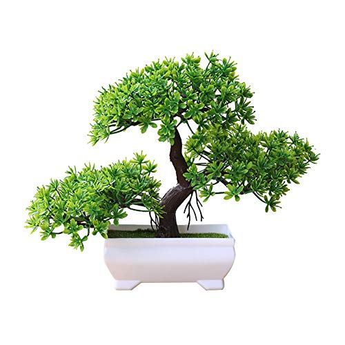 Steellwingsf Accogliente Pino Bonsai Simulazione Artificiale Vaso pianta Ornamento Home Decor scrivania Ornamento Green