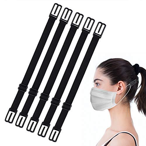 5 Stück Maskenhalter,Elastische Maskenhalterung zur Entlastung der Ohren über Nacken und Hinterkopf, rutschfeste Maskenverlängerung,Zur Verlängerung der Mundschutzhalter