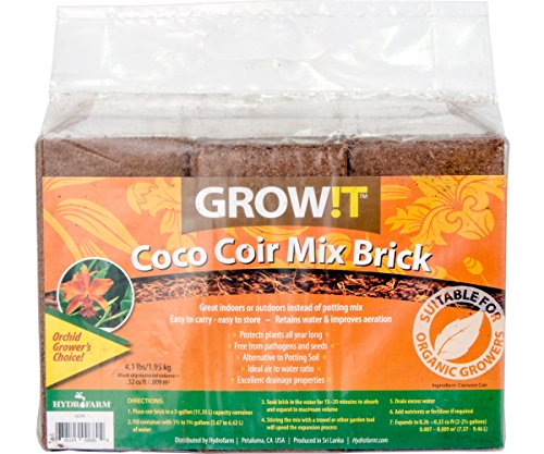 GROW!T JSCPB - Coco Coir Mix Brick (Pack of 3), Brown - Protects Plants All Year Long,...