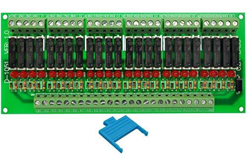 ELECTRONICS-SALON delgado montaje en Panel DC24V fregadero/NPN 24 SPST-NO 5 A poder Módulo de relé, PA1a-24V