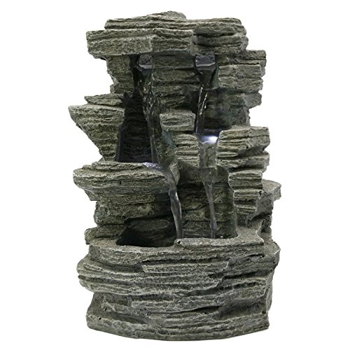 Zen'Light SCFR150 Grand Canyon Brunnen, Grau, Stein, 19 x 16 x 28 cm