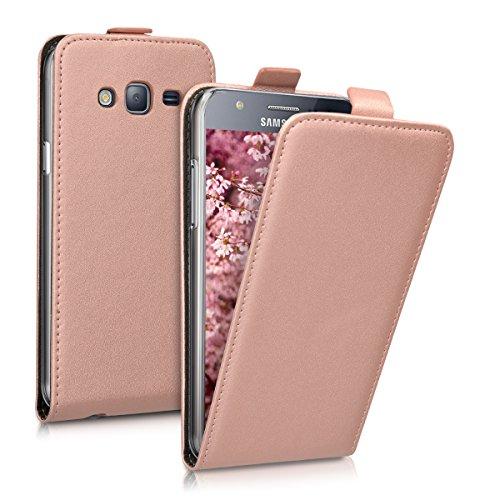kwmobile Funda Compatible con Samsung Galaxy J5 (2015) - Carcasa para móvil de Cuero sintético - Case en Oro Rosa