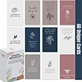 Dessie Affirmation Cards for Women With Thought-Provoking Questions. 60 Unique EARTH TONE Affirmation Cards w/ 100+ Empowering Questions.Stress Relief, Meditation and Self Care Gift For Women