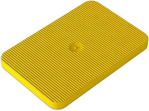 INNONEXXT - Piastre distanziatrici di alta qualità, 60 x 40 mm, 4 mm, 250 pezzi, colore: giallo