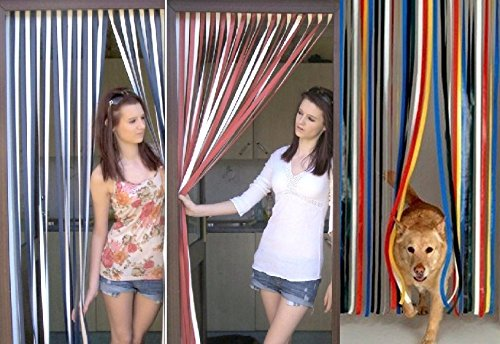Slat Type Door Curtain,Bug Blind,Fly Blind,Strip Blind-Traditional Multi...