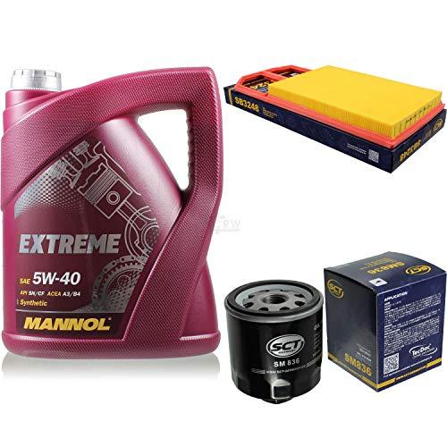 Filter Set Inspektionspaket 5 Liter MANNOL Motoröl Extreme 5W-40 API SN/CF SCT Germany Luftfilter Ölfilter