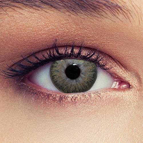 Designlenses, Dos lentillas de color marrón discretamente colores suaves de un mese sin dioprtías/corregir + gratis caso de lente