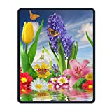 Customized Artistic Flower Gaming Mouse Pad Overhand Non-Slip Rubber Durable Computer Desk Stationery Accessories Mouse Mat - 8.66 x 7.08 inch