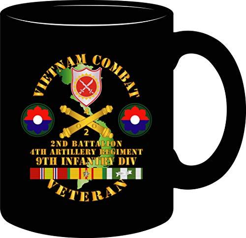 MUG - Army - Vietnam Combat Veteran w 2nd Bn 4th Artillery - 9th ID (White, 15oz)