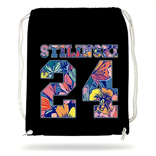 Certified Freak Stilinski 24 Flowers Gymsack Black