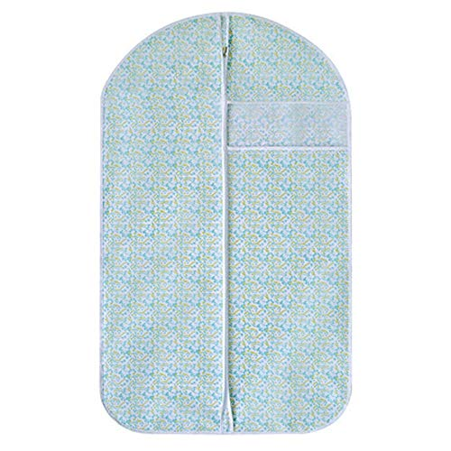 YLiansong-home Dustproof Clothes Covers Set Of 15 Non-woven Fabric Garment Bags Suit Bag Includes Zipper 5*Large Size 5*Medium Size 5*Small Size Moth Proof Coat Bag (Color : Green, Size : L+M+S)
