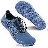 Zapatos de Agua para Hombre Transpirable Secado Rápido de Surf Escarpines Antideslizantes Calzado de Deportes Acuáticos Buceo, Azul, 49 EU
