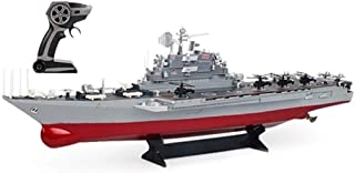 Large RC Boat 2.4Ghz Simulated Aircraft Carrier Boat Remote Control 1: 275, Double Propeller Motor, Simulation Flight Deck...