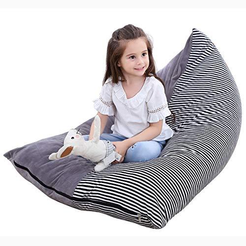 Rehomy Großer Segeltuchbeutel Stofftier Aufbewahrung Sitzsack Stuhl Extra Streifen Stuhl Sofa