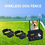 Wireless Dog Fence Pet Containment System, Safe Effective Vibrate/Shock Dog Fence, Adjustable Control