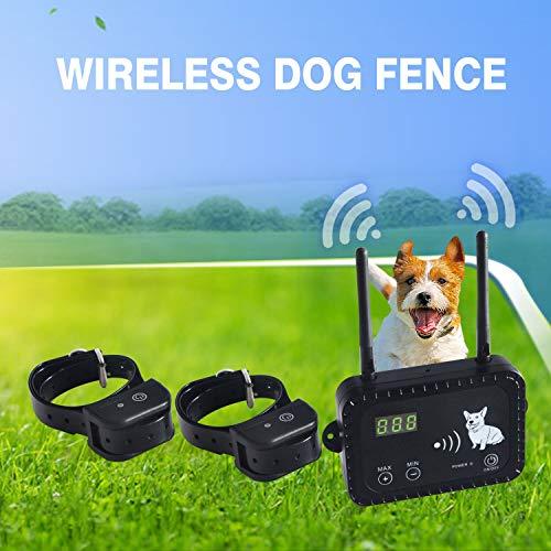 JUSTPET Wireless Dog Fence Pet Containment System, Safe Effective Vibrate/Shock Dog Fence, Adjustable