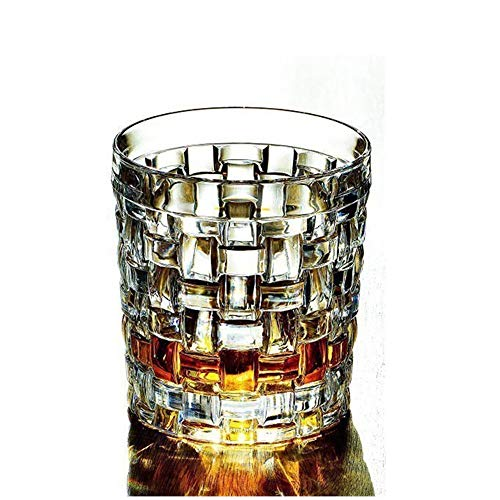 ZzheHou Doppelglasbecher Kristallglas Großer Whisky-Glas-Bier-Glas Juice Drink Cup-Wasser-Schal Einfach Zu Säubern (Farbe : Clear, Size : 10x8.6cm)