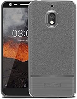 Nokia 2.1 Case, Cruzerlite Flexible Slim Case with Leather Texture Grip and Shock Absorption Cover for Nokia 2.1 Nokia21-LEA