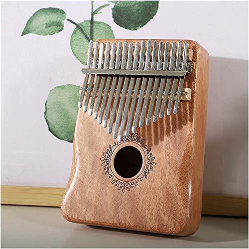 CRTTRC Stilvoll Kalimba Body Musikinstrumente Kalimba Piano Kreative Spieluhr (Farbe: Flower Blue)-Blume Khaki