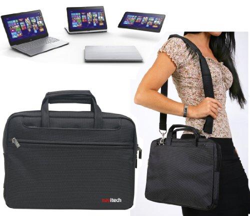 Navitech Schwarzes Ultrabook/Laptop/Notebook Case Cover Tasche für das SONY Vaio Fit 11A Flip PC