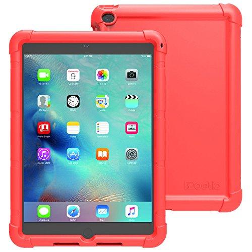 iPad Mini 4 Case - Poetic [Turtle Skin Series] iPad Mini 4 (4th Gen) Case- [Corner/Bumper Protection] [Grip] [Sound-Amplification] Protective Silicone Case for Apple iPad Mini 4 Red