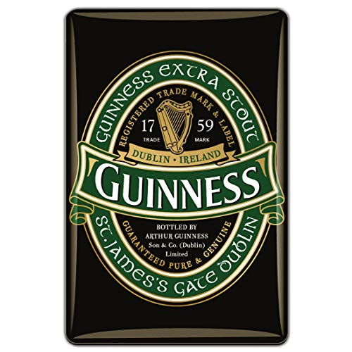 Guinness Official Merchandise Quality Epoxy Magnet With Green Label Design
