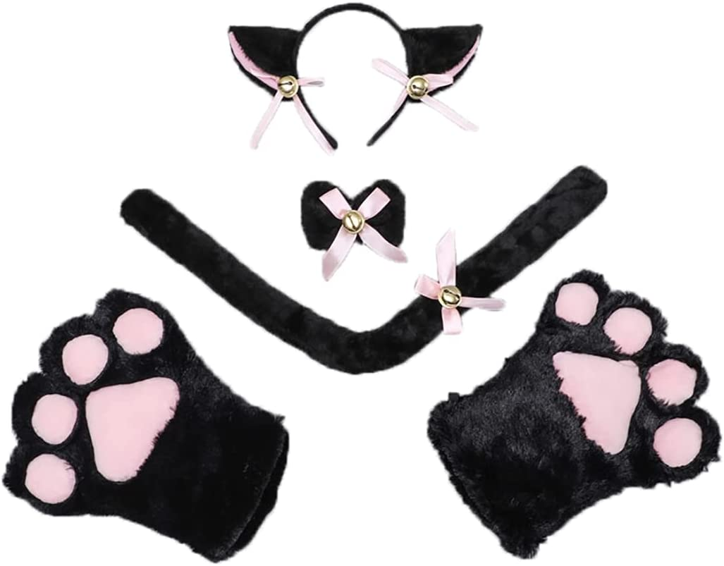 COSYOO Woman Girls Lady Ladies Cat Costume Be Soldering Furry depot 5PCS Cosplay