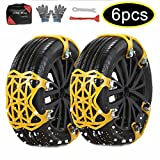 UPEOR Snow Tire Chains Emergency Car Adjustable Anti Slip Tire Chain for SUV/Truck/Cars Snow Tire Cable Car Chains 165-275mm/6.4-10.9''