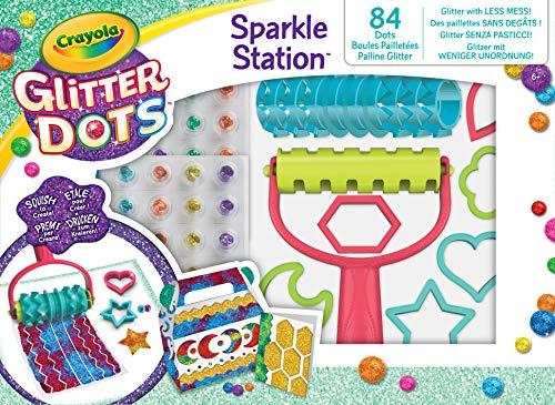 CRAYOLA Glitter Dots - Sparkle Station Set, per Giocare e Creare con Il Glitter Modellabile, attività Creativa e Idea Regalo, 04-0804