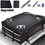 Cargo Carrier Bag Waterproof 19 Cubic Feet Waterproof, Snowproof Car Roof Top Carrier with Anti-Slip Mat + 8 Reinforced Straps + 6 Door Hooks Universal for All Cars Vehicles with / without Rack