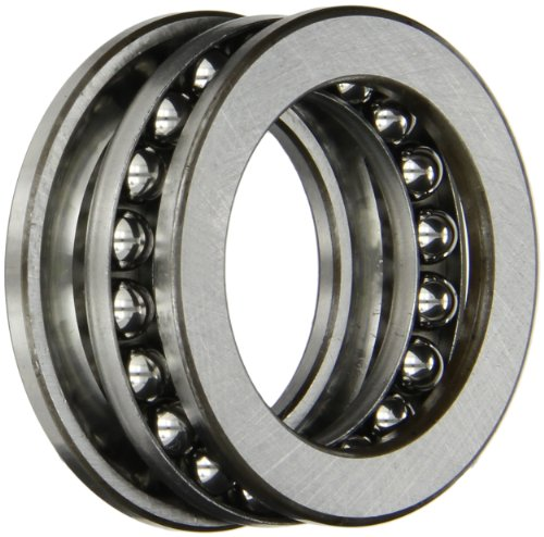 SKF 51108 Single Direction Thrust Bearing, 3 Piece, Grooved Race, 90° Contact Angle, ABEC 1 Precision, Open, Steel Cage, 40mm Bore, 60mm OD, 13mm Width, 11200lbf Static Load Capacity, 5260lbf Dynamic Load Capacity
