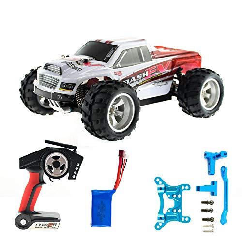 efaso WL Toys A979-B + Alu-Upgrade-Kit - schneller RC Monstertruck 70 km/h schnell, wendig, voll digital proportional - 2.4 GHz RC Auto mit Allradantrieb - Maßstab 1:18, hoher Fun Faktor