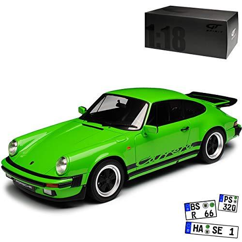 GT Spirit Porsche 911 3.2 Carrera G-Modell Coupe Grün 1973-1989 Nr 740 1/18 Modell Auto