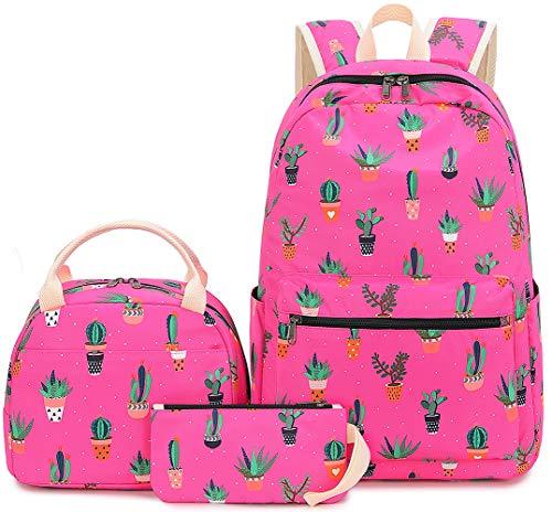 BLUBOON Schulrucksack-Set für Mädchen und Damen, für Laptops mit 38,1 cm (15 Zoll) und Tasche