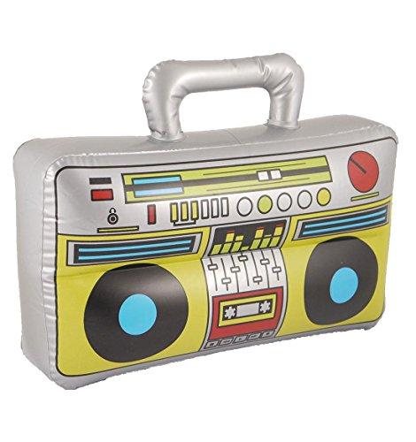 Islander Fashions Boom Box Gonflable 37X28cm Party Fantaisie Stag Do Blow Up Accessoire Lecteur de Musique Taille Unique Lot de 3