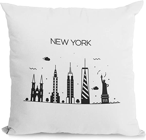 Bonnie Jeans Homestead Prints New York Pillow Cover Oatmeal 20x20