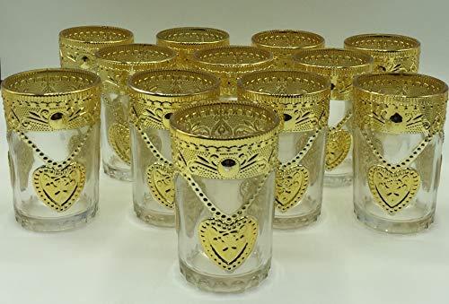 high quality Set de 12 de Vasos de Cristal para Té marroquí...
