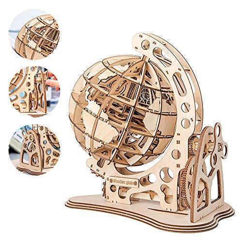 Tigeryang Holzkugel-Puzzle 3D-Holzpuzzle-Modell DIY Mechanisches Antriebsmodell Getriebezahnrad Drehen Puzzles Holzhandwerk
