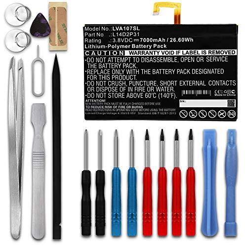 subtel® Ersatz Akku L14D2P31, SB18C03763 für Lenovo Tab 2 A10-70, Tab 2 A10-70F, Tab 2 A10-70L, TB-X103F, Tab 4 TB-X304L, TB-X704N 7000mAh + Werkzeug-Set Ersatzakku für Tablet PC Batterie Tabletakku