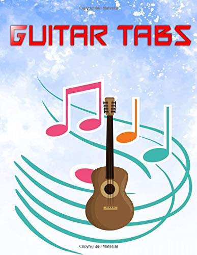 """Ultimate Guitar Tab Treasure Chest: Easy Acoustic Guitar Tabs Free120 Pages Matte Cover Design White Paper Sheet Size 8.5 X 11"""" ~ Bass - Tabs # Authentic Very Fast Prints."""