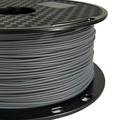 PLA MAX Grey PLA Filament 1.75mm 3D Printer Filament 1KG 2.2LBS Spool 3D Printing Materials High Strength High Toughness Than Normal PLA Filamentt CC3D