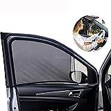 Parasole universale anteriore per finestrino auto, 2 pezzi, in rete traspirante per finest...