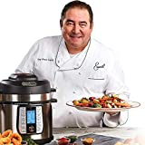 Emeril Lagasse Pressure AirFryer, Steamer & All-in-One Multi-Cooker. Pressure & Crisper Lid, Glass Lid. Emeril Recipe Book. (8 QT With Accessory Pack)