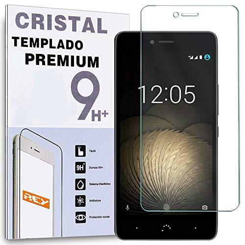 REY Protector de Pantalla para BQ AQUARIS U/U Plus/U Lite, Cristal Vidrio Templado Premium
