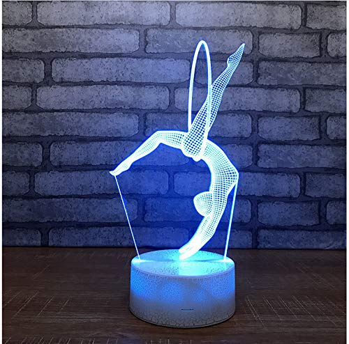 White Lamp Crack Base Death Star Unicorn Pickchu Motor LED 3D Night Lights Ambient Light Desk lamp Colors Change Kids Gifts